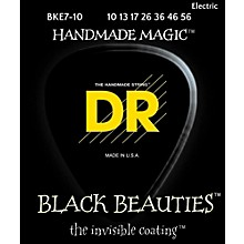 DR Strings BLACK BEAUTIES Black Coated Medium 7-String Electric Guitar Strings (10-56)