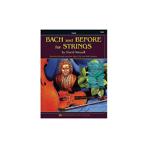 KJOS Bach And Before for Strings Violin-thumbnail