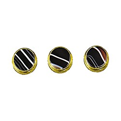 Bach Black and White Sardonyx Trumpet Finger Buttons 3-Pack (1814GBW)