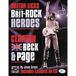 Backbeat Books Guitar Licks of the Brit-Rock Heroes - Clapton Beck & Page Book with CD (331177)