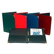 "Marlo Plastics Band and Orchestra Rehearsal Folder 12"" x 14"" with Brass Corners and Pencil Loop"