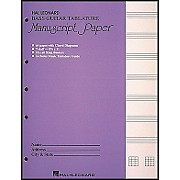 Hal Leonard Bass Guitar Tablature Manuscript Paper