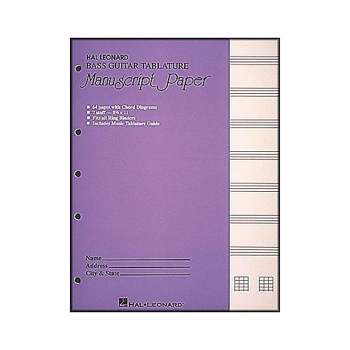 Bass Guitar Tablature Manuscript Paper - WWBW