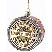 "Kurt S. Adler Beatles ""Sgt Pepper"" Glass Drum Head Ornament"