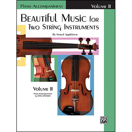 Alfred Beautiful Music for Two String Instruments Book II Piano Acc.