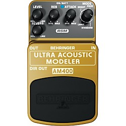 Behringer AM400 Ultra Acoustic Modeler Guitar Modeling Effects Pedal (AM400)