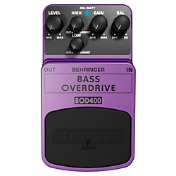 Behringer Bass Overdrive BOD400 Bass Effects Pedal (BOD400)