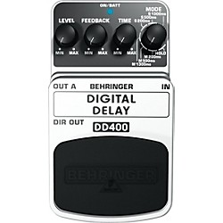 Behringer DD400 Digital Delay Guitar Effects Pedal (DD400)