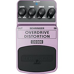 Behringer Overdrive/Distortion OD300 Guitar Effects Pedal (OD300)