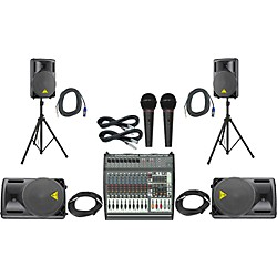 Behringer PMP4000 / B212XL Mains Monitors & Mics Package (PMP4000B212XL)