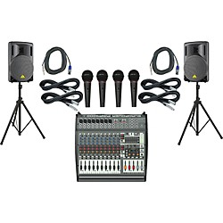 Behringer PMP4000 / B215XL Powered Mixer Mains & Mics Package (PMP4000B215XL)