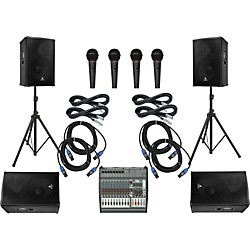 Behringer PMP4000/B1520 PRO Mains & Monitors PA Package (PMP4000B1520 485853)