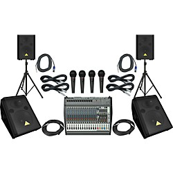 Behringer PMP6000 / VS1220 / VS1220F PA Package (PMP6000VS1220F)