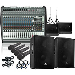 Behringer PMP6000/B1520 PRO Mains & Monitors PA Package (PMP6000B1520-485940)