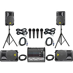 Behringer PMP6000/B212XL Mains & Monitors PA Package (PMP4000B1520 485854)
