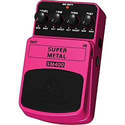 Behringer Super Metal SM400 High-Gain Distortion Guitar Effects Pedal (SM400)