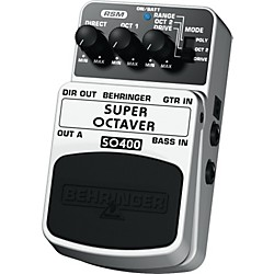 Behringer Super Octaver SO400 Guitar/Bass Effects Pedal (SO400)
