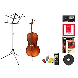 Bellafina Model 50L Beginner Student 3/4 Cello Bundle (50LVC34-123 Kit)