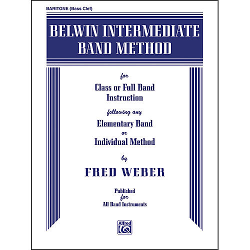 Alfred Belwin Intermediate Band Method Baritone B.C.-thumbnail