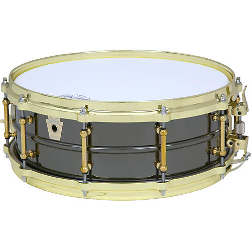 Ludwig Black Beauty Brass on Brass Snare Drum-thumbnail