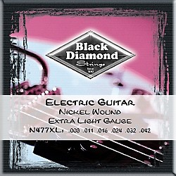 Black Diamond Extra Light Nickel Electric Guitar Strings (N477XL)