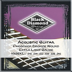 Black Diamond Phosphor Bronze Acoustic Guitar Strings (N600XL)