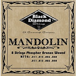 Black Diamond Phosphor Bronze Mandolin Strings (N774)