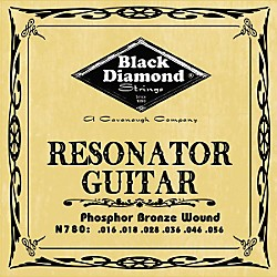 Black Diamond Phosphor Bronze Resonator Guitar Strings (N780)