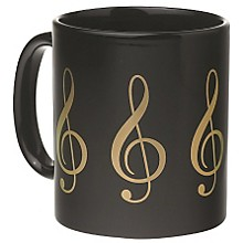 AIM Black/Gold Treble Clef Coffee Mug