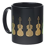 AIM Black/Gold Violin Coffee Mug