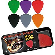 Snarling Dogs Brain Guitar Picks and Tin Box