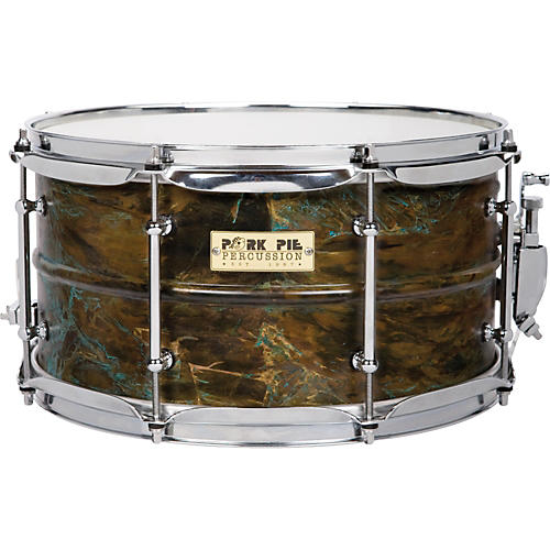 Pork Pie Brass Patina Snare Drum 7 x 13
