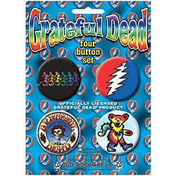 C&D Visionary Grateful Dead Button Set (4 Piece) (B-1562-S)