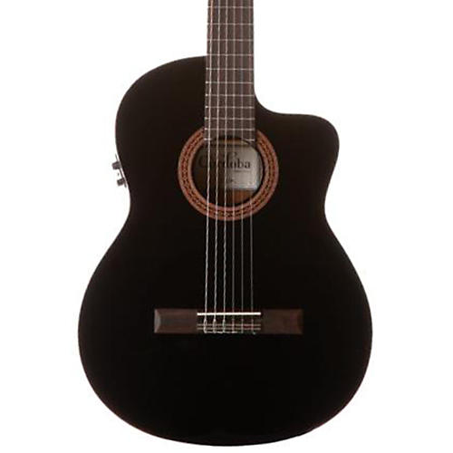 Cordoba C5-CEBK Classical Acoustic-Electric Guitar Black Black-thumbnail