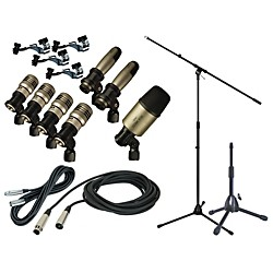 CAD Premium 7-Piece Drum Mic Kit with Stand and Cables (PRMG-DRMIC-PKG)