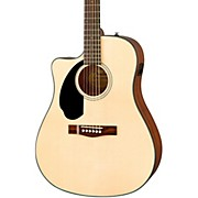 Fender CD-60SCE Left Handed Acoustic-Electric Guitar