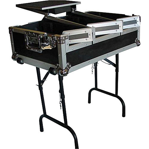 Eurolite CDJ400 Coffin Case with Laptop Shelf and Folding Table Legs-thumbnail
