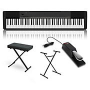 Casio CDP-130 Digital Piano with Stand Sustain Pedal and Deluxe Keyboard Bench
