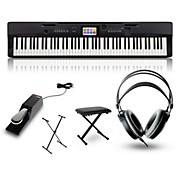 Casio CGP-700BK Digital Compact Grand Piano with Stand, Sustain Pedal, Deluxe Keyboard Bench and Headphones