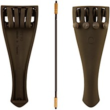 Otto Musica Carbon Composite Viola Tailpiece with Four Built-In Fine Tuners and Braided Steel Tailgut