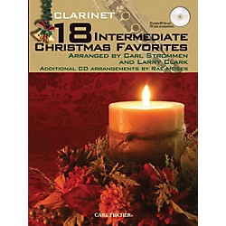 Carl Fischer 18 Intermediate Christmas Favorites - Clarinet Book/CD (WF100)