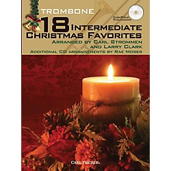 Carl Fischer 18 Intermediate Christmas Favorites - Trombone Book/CD (WF103)