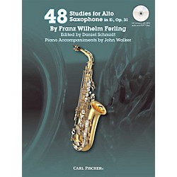Carl Fischer 48 Studies for Alto Saxophone in Eb, Op. 31 Book/CD (WF80)