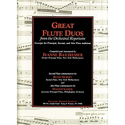 Carl Fischer Great Flute Duos From The Orchestral Repertoire Book (414-41186)