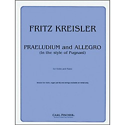 Carl Fischer Praeludium And Allegro (F1042)