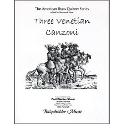 Carl Fischer Three Venetian Canzoni Book (BQ52)