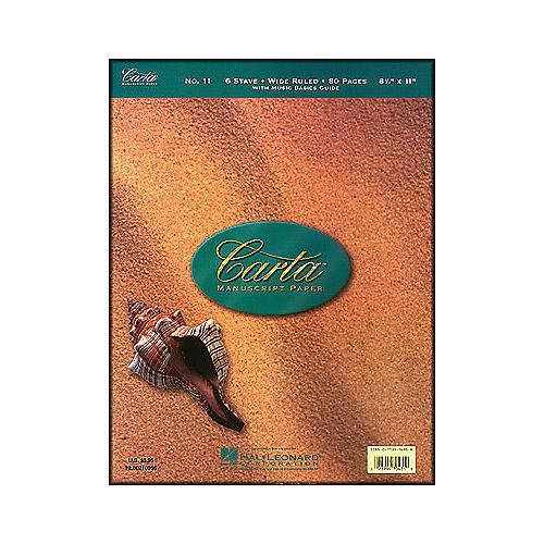 Hal Leonard Carta Manuscript 11 Writing Pad 8.5 X 11, 80 Pages, 6 Staves