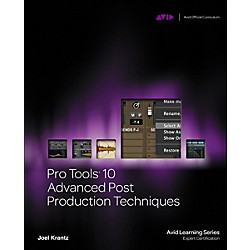 Cengage Learning Pro Tools 10 Advanced Post Production Techniques Book/DVD (9781133788867)
