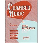 Hal Leonard Chamber Music Series Three Saxophones Two Altos And Tenor - Easy To Medium