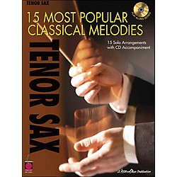 Cherry Lane 15 Most Popular Classical Melodies For Tenor Sax Book/CD (2500739)